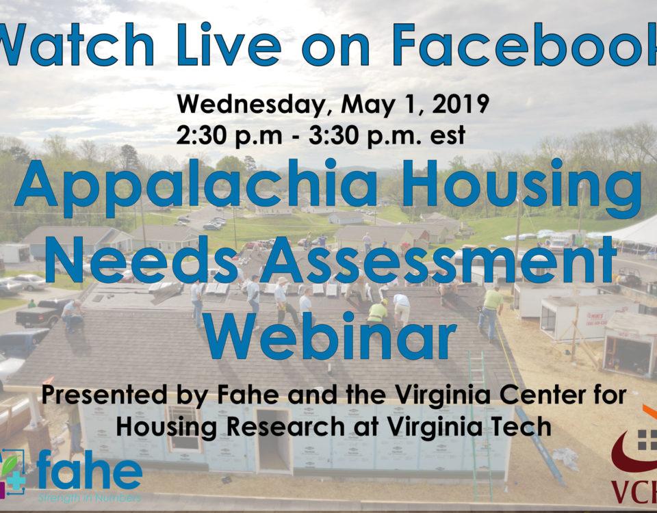 Appalachia Housing Needs Assessment Webinar